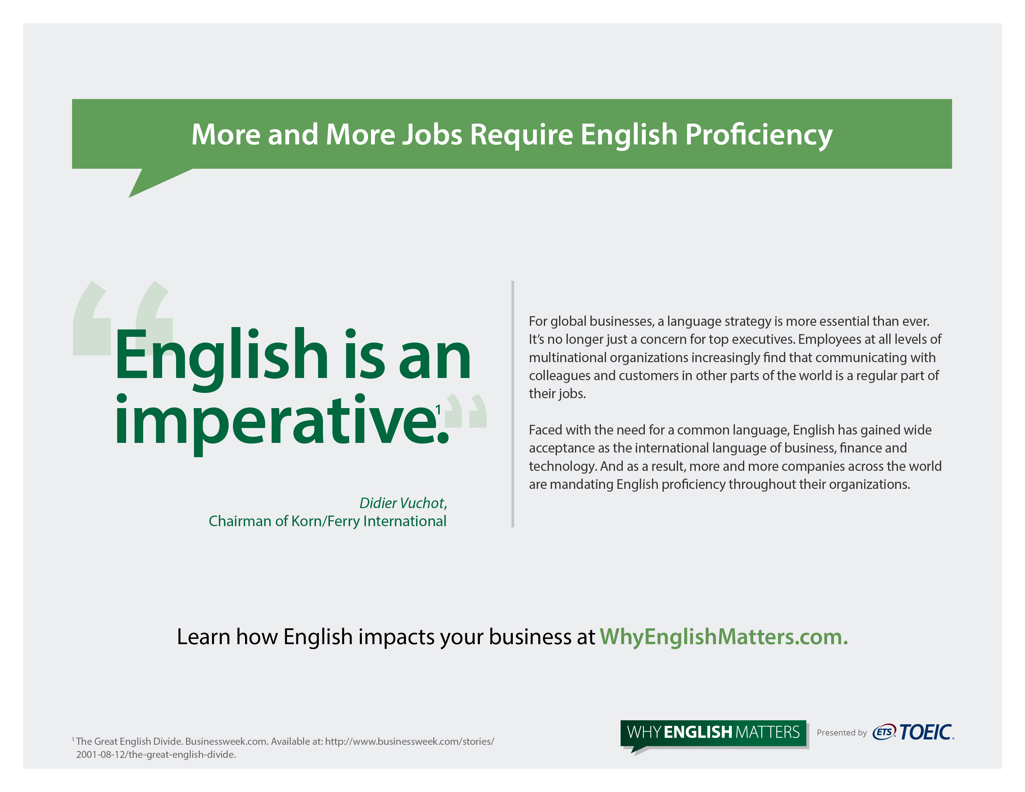 More And More Jobs Require English Proficiency